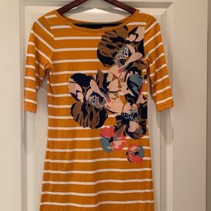 French Connection Floral Striped Dress Size 4
